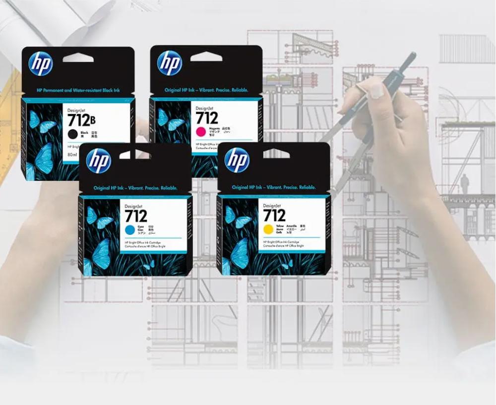 Tinta Set HP Designjet 712