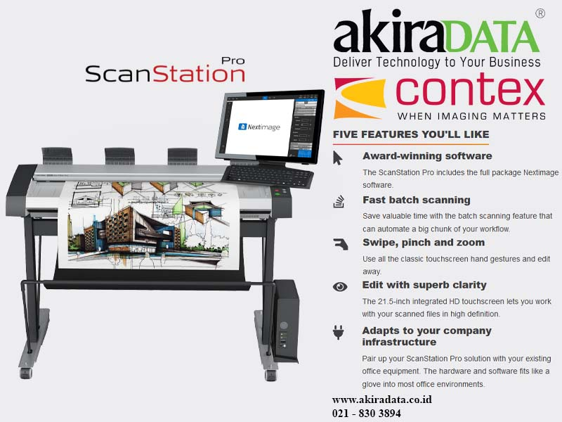 Jual Scanner Contex HD Ultra 4290 ScanStation Pro Jakrta